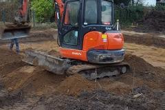 Beginn Bodenarbeiten