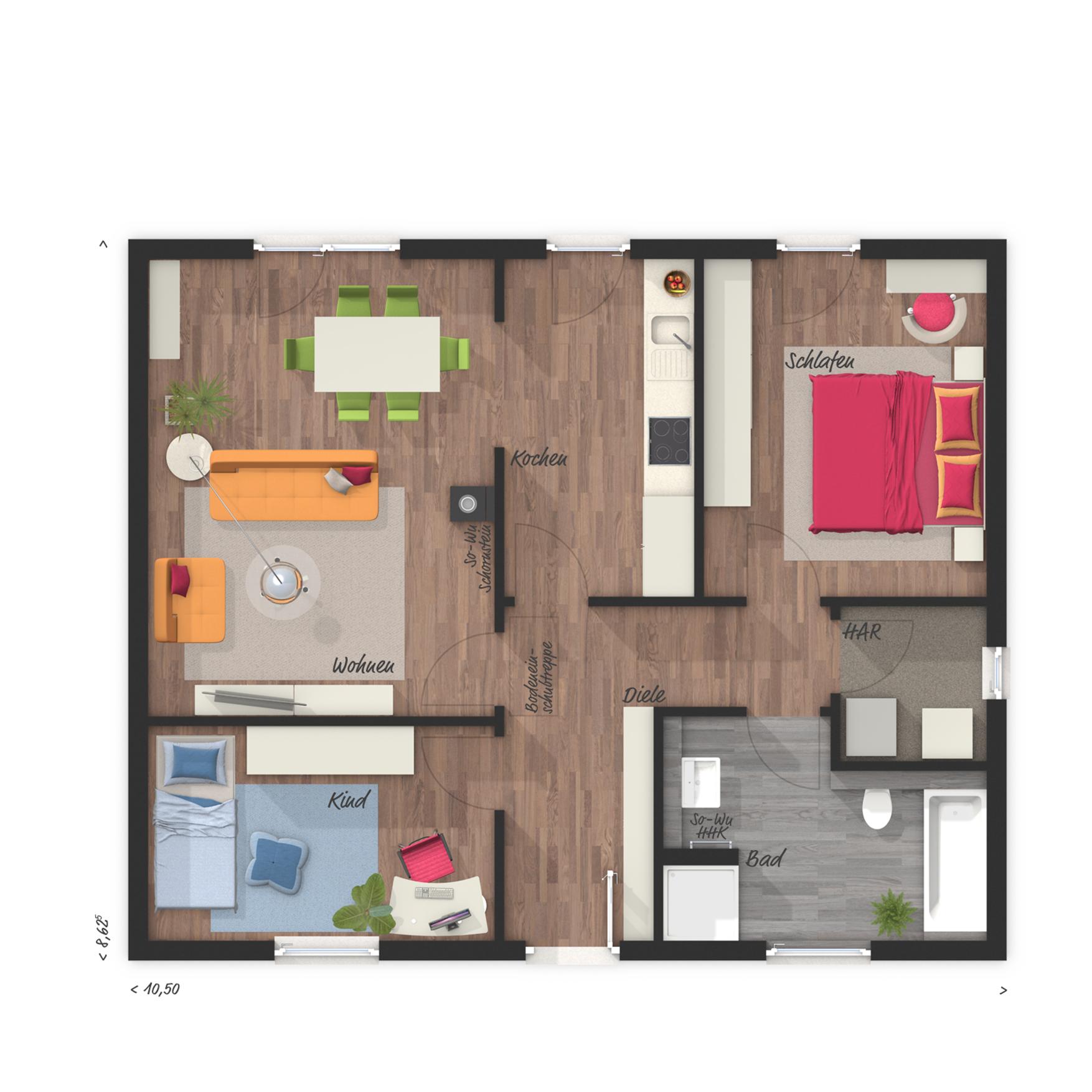 grundriss bungalow 4 zimmer offene k che k che klassisch poco weiss selber machen outdoor. Black Bedroom Furniture Sets. Home Design Ideas