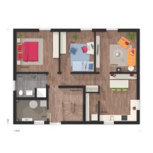 Flair 180 Duo-Grundriss Erdgeschoss